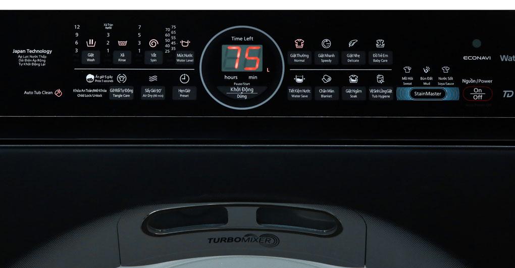 Bảng điều khiển máy giặt