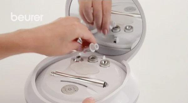 Bước 3 gắn đầu lọc vào thiết bị