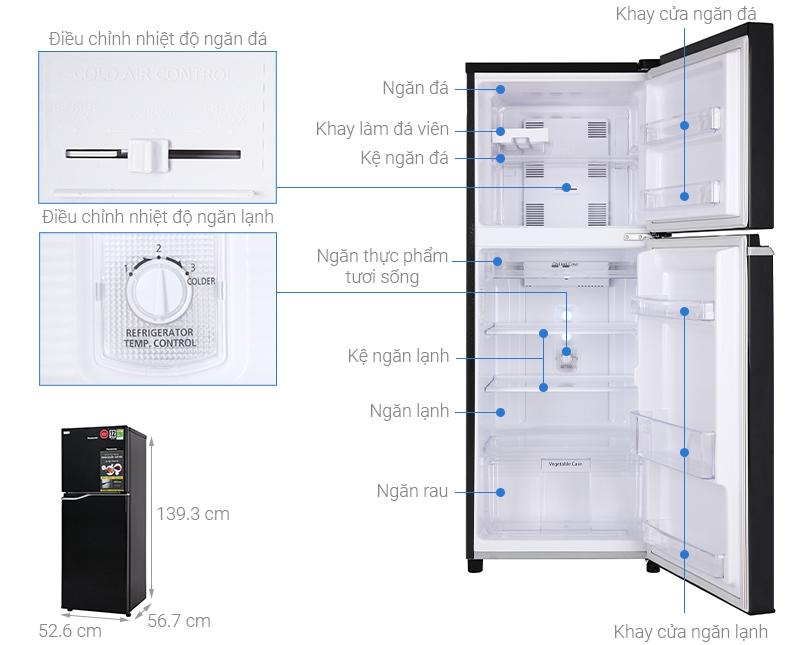 Chi tiết cấu tạo tủ lạnh NR-BA229PKVN