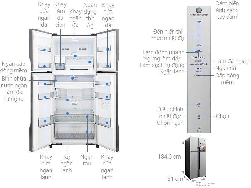 Tủ lạnh Panasonic NR-DZ600MBVN
