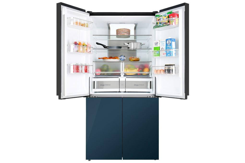 Tủ lạnh Toshiba GR-RF646WE-PGV giúp bảo quản lượng lớn thực phẩm
