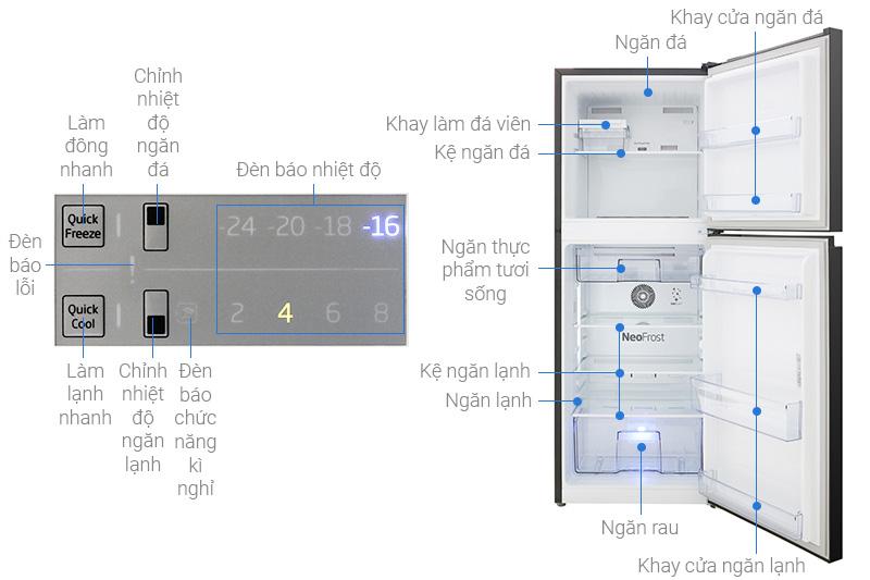 Cấu tạo của tủ lạnh Beko