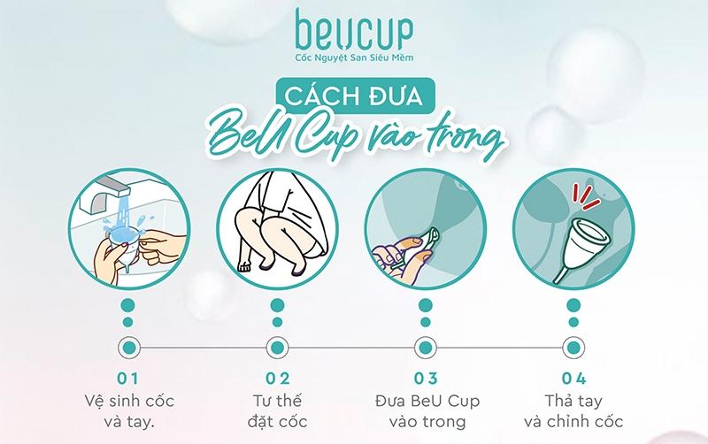 Cách đặt cốc nguyệt san