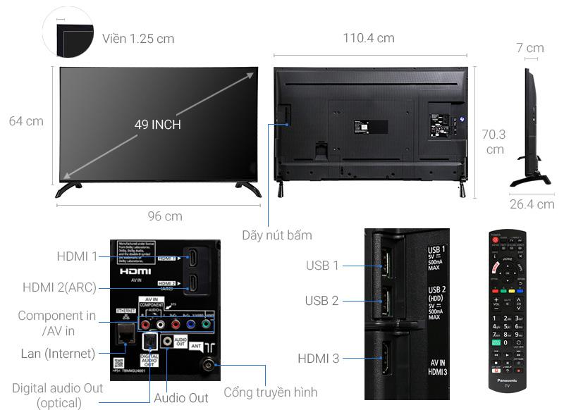 Smart Tivi Panasonic TH-49ES500V