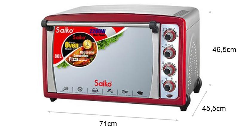 Lò nướng điện Saiko TO-80E