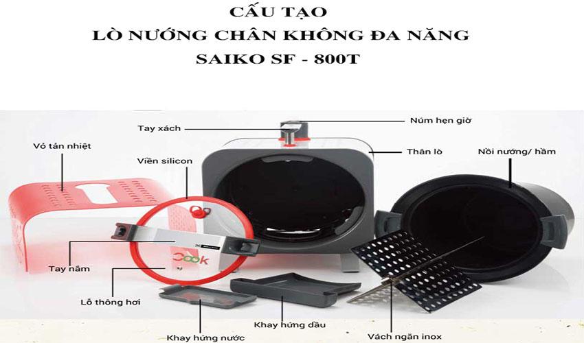 Lò nướng chân không Saiko SF-800T