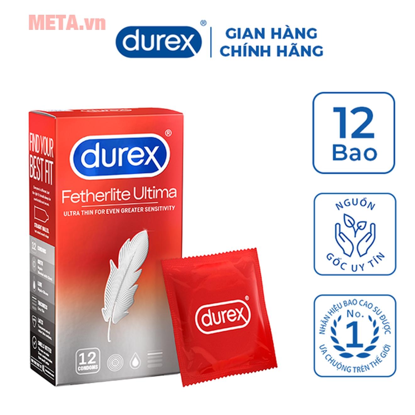 Durex Fetherlite Ultima đóng hộp 12 chiếc