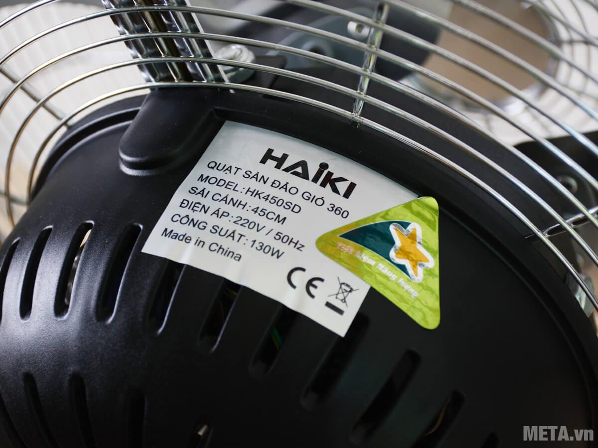 Quạt sàn Haiki