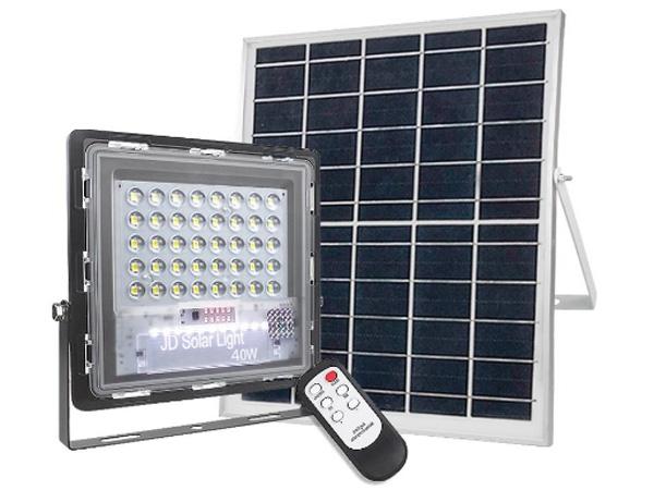 Đèn pha năng lượng mặt trời JinDian JD-740