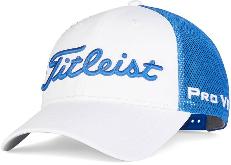Mũ Titleist Tour Performance Mesh 2020 màu trắng xanh coban