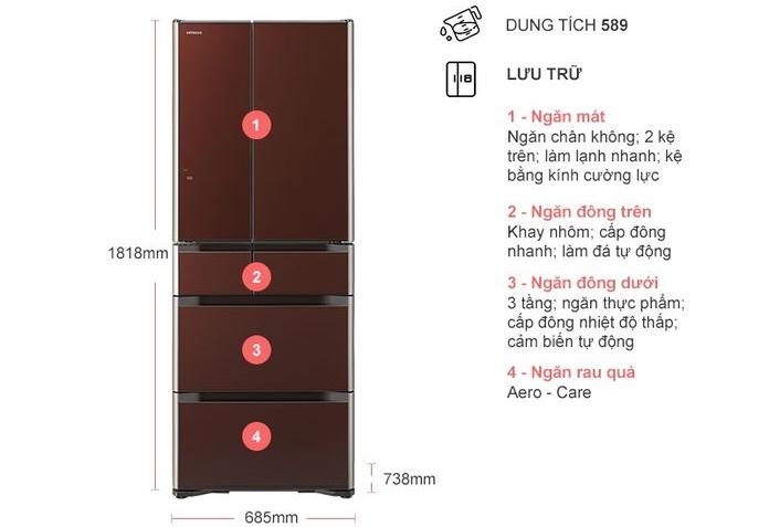 Tủ lạnh Hitachi R-G570GV