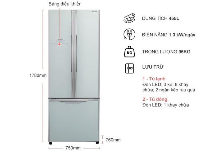 Tủ lạnh Hitachi R-WB545PGV2-GS