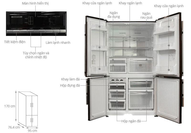 Tủ lạnh Mitsubishi MR-L72EH-BRW-V