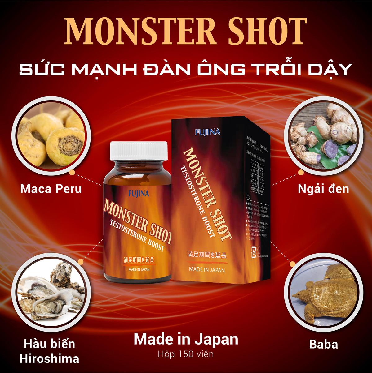 viên hỗ trợ sinh lý nam Monster Shot