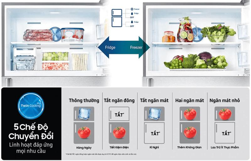 Tủ lạnh Samsung RT29K5532BU/SV