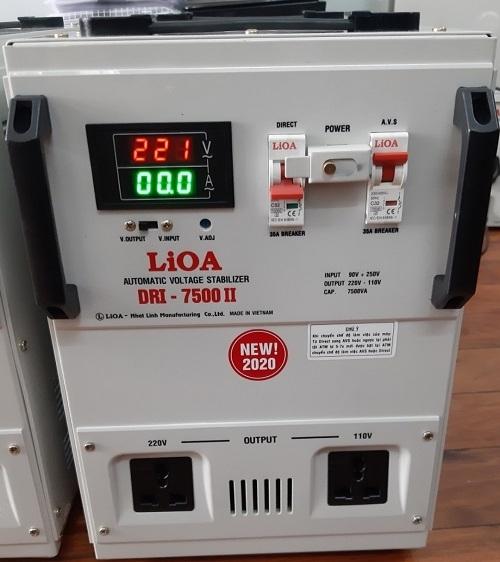 Ổn áp 1 pha Lioa 7.5KVA DRI 7500 giúp dòng điện ổn định liên tục