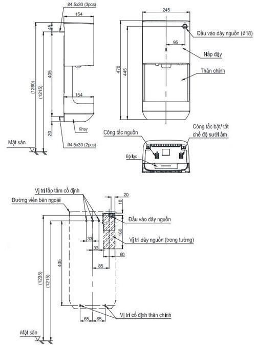 Máy sấy tay Toto TYC322W