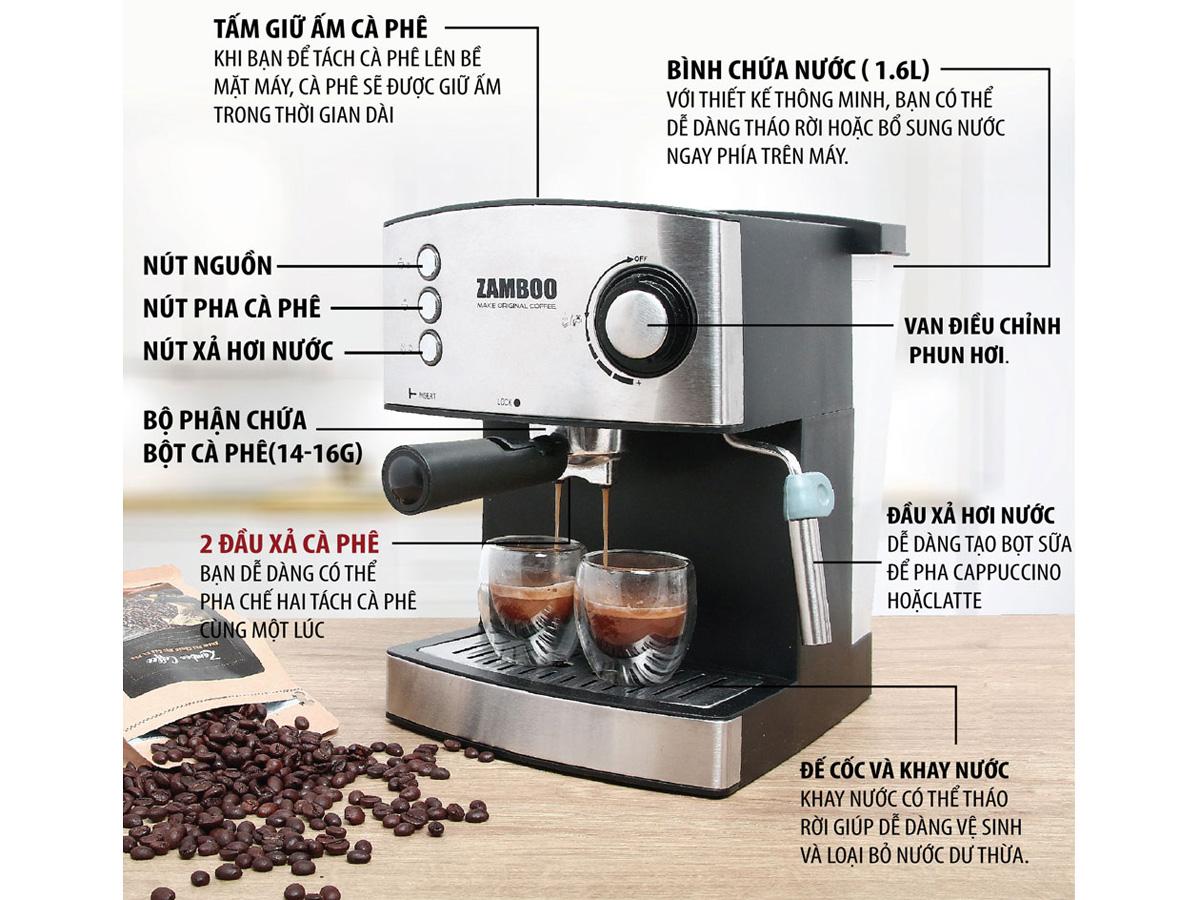 Máy pha cà phê Espresso Zamboo
