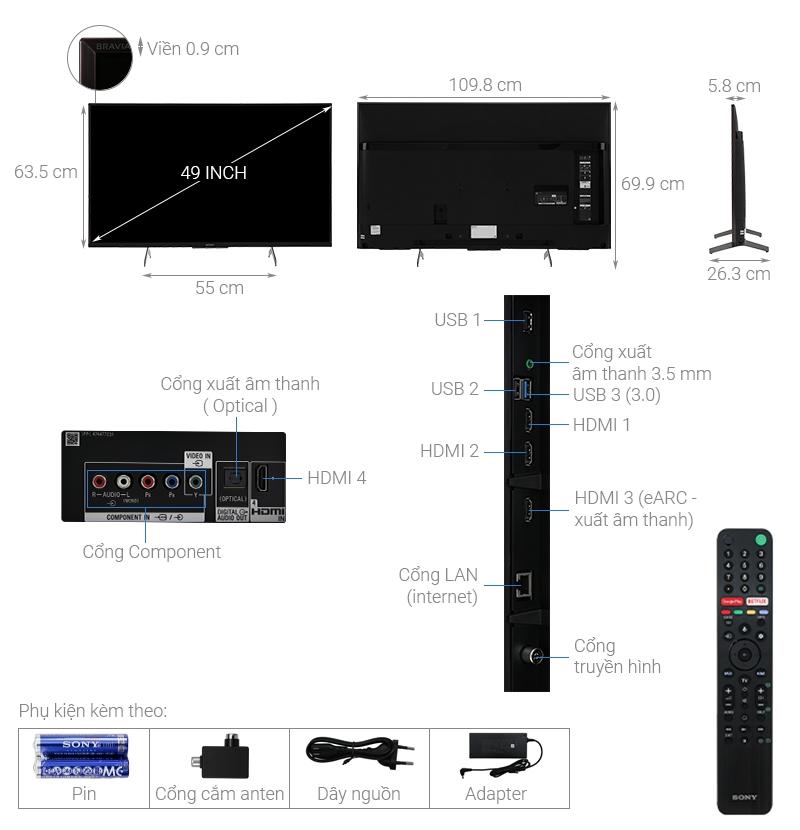 Cấu tạo tivi Sony