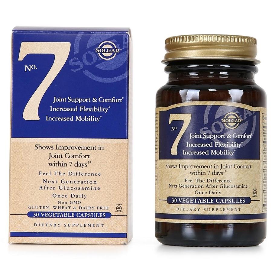 Thực phẩm bảo vệ sức khỏe No.7 Joint Support & Comfort Solgar (30 viên)