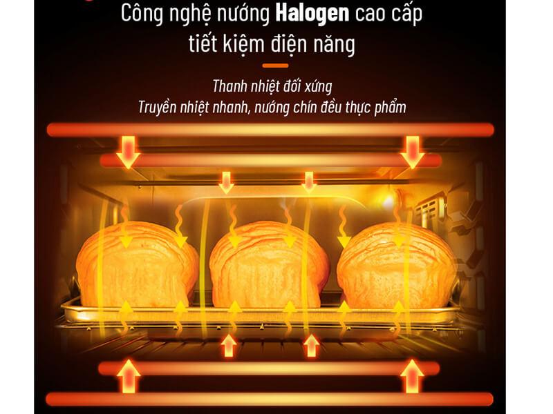 Công nghệ nướng Halogen tiết kiệm điện năng