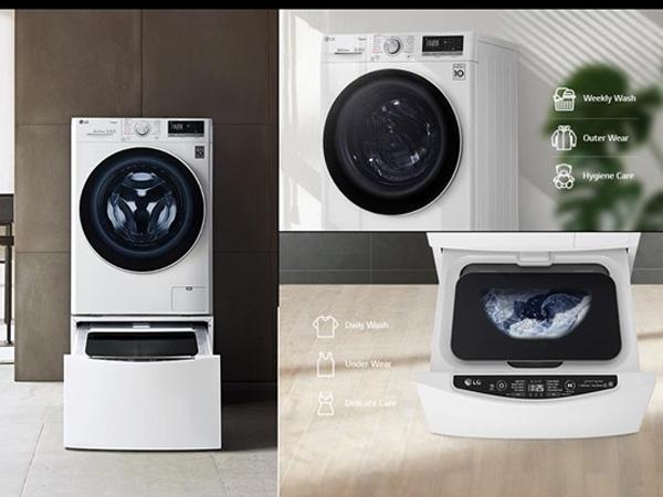 Máy giặt lồng ngang thông minh LG AI Direct Drive 8kg FV1408S4V (new 2020)