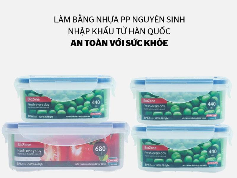 Hộp bảo quản thực phẩm bằng nhựa