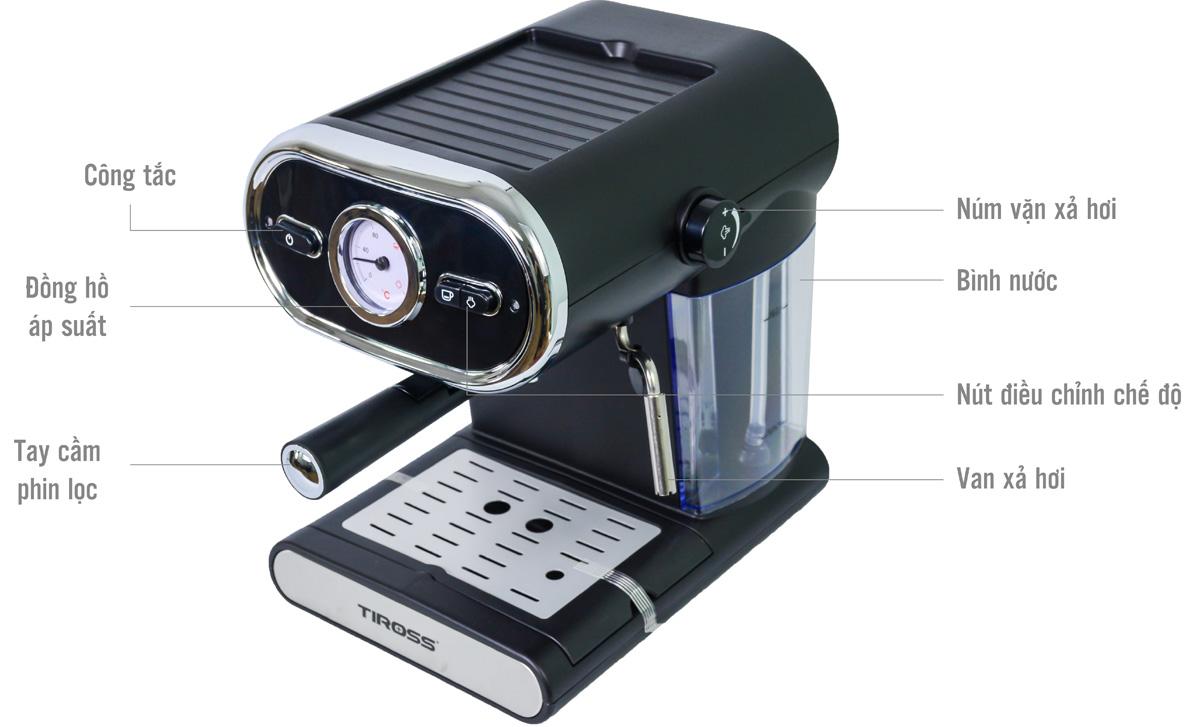 Cấu tạo máy pha cà phê Tiross