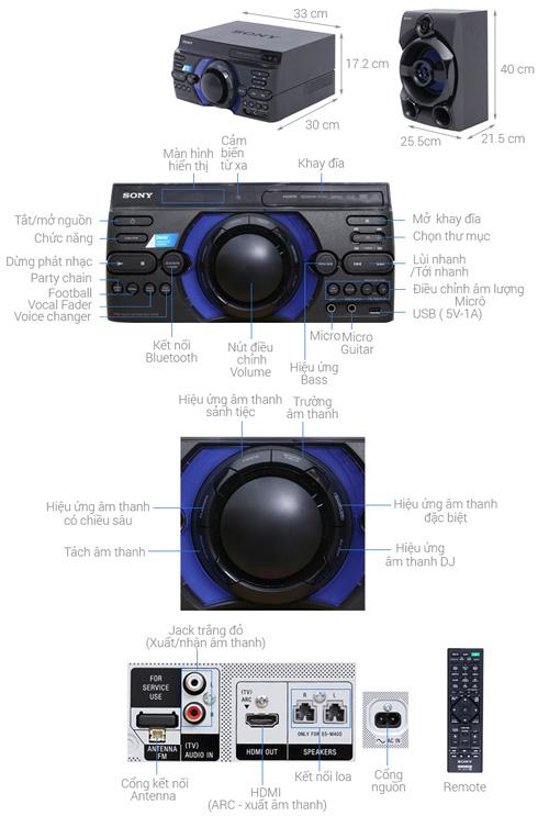 Dàn âm thanh Sony MHC-M40D