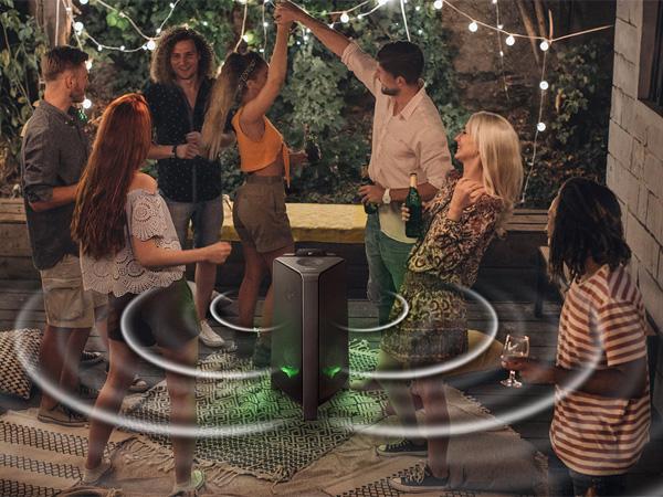 Hệ thống đèn led giúp bữa tiệc thêm sôi động