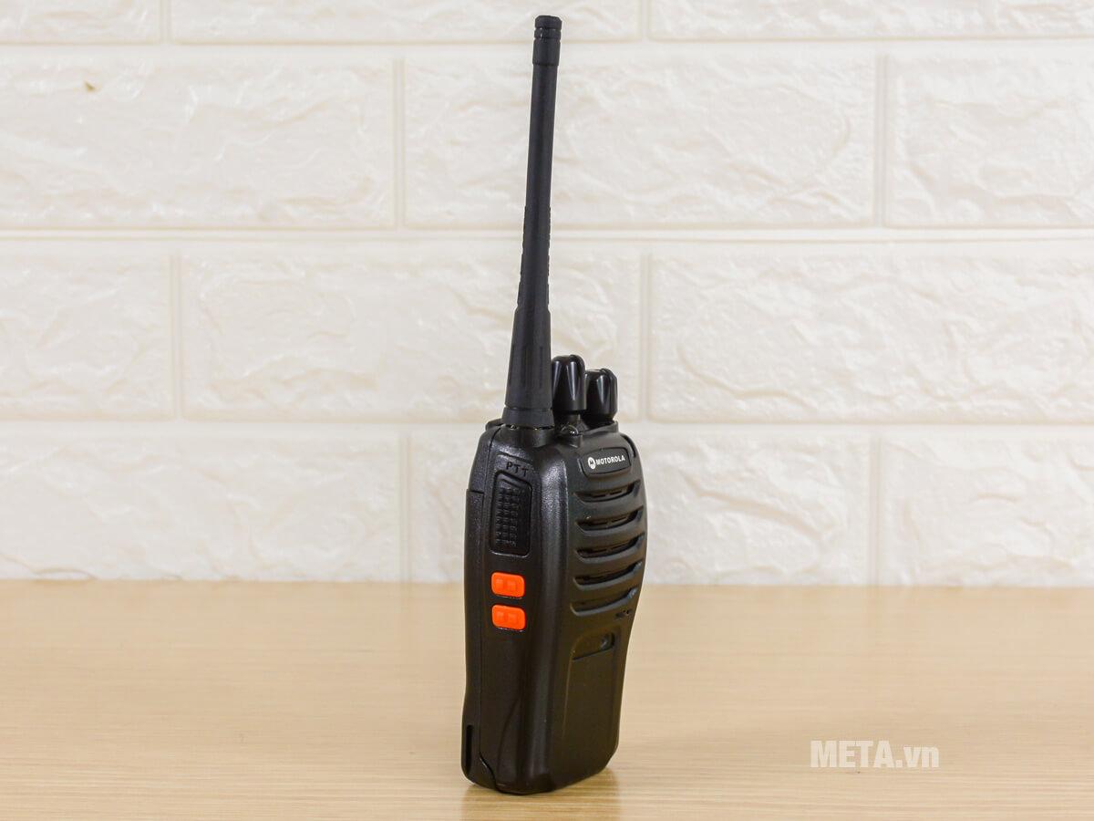 Bộ đàm hoạt động trong dải tần số UHF: 400 – 470 MHz