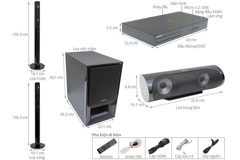 Cấu tạo dàn âm thanh Samsung