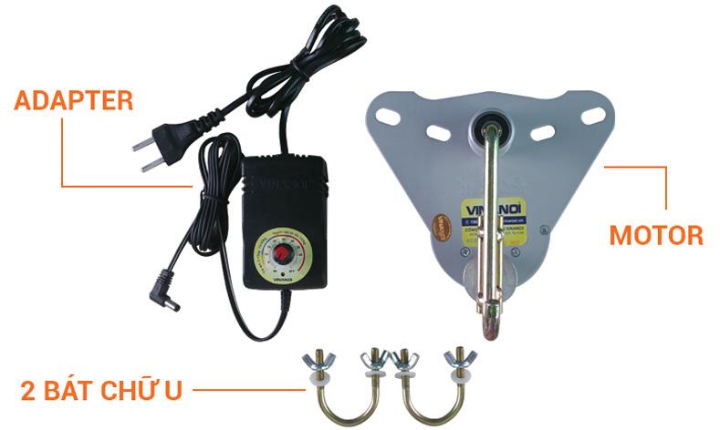 Bộ sản phẩm chi tiết của máy đưa võng Ban Mai