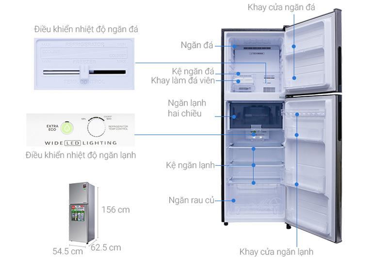 Cấu tạo của tủ lạnh Sharp