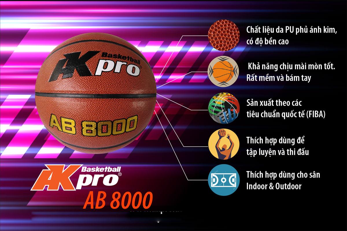 Bóng rổ Akpro AB8000