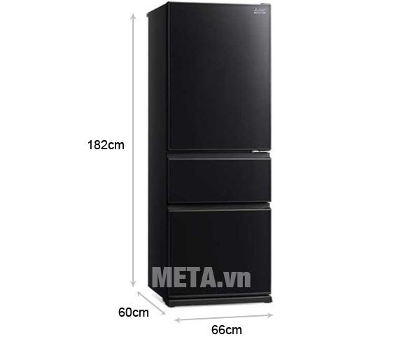 Tủ lạnh Mitsubishi MR-CGX46EN-GBK-V