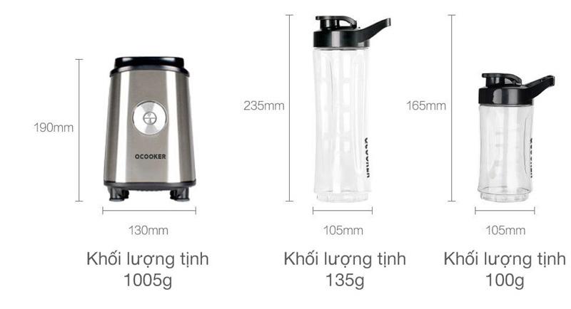Kích thước của máy xay sinh tố