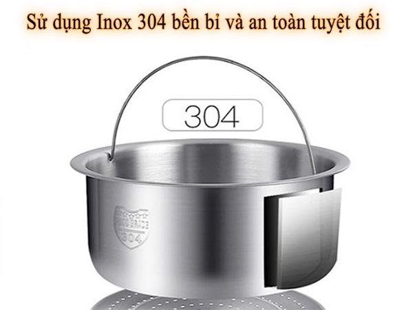 Chất liệu Inox 304 an toàn