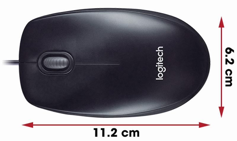 Kích thước của chuột M100R