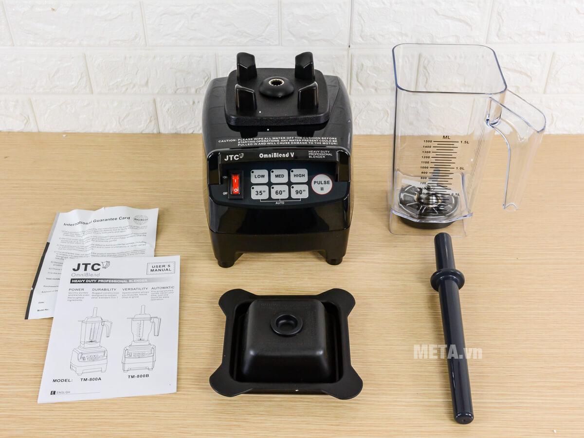 Bộ dụng cụ chi tiết của máy xay sinh tố