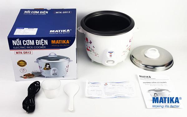 Nồi cơm điện Matika MTK-DR12