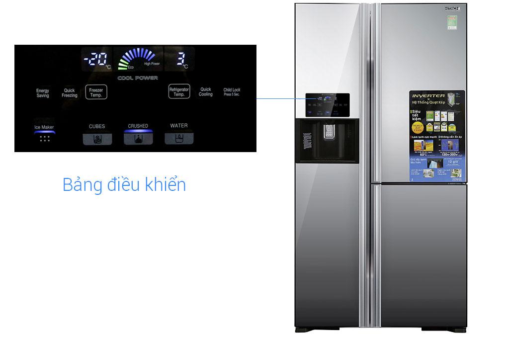 tủ lạnh điều khiển bên ngoài cánh cửa