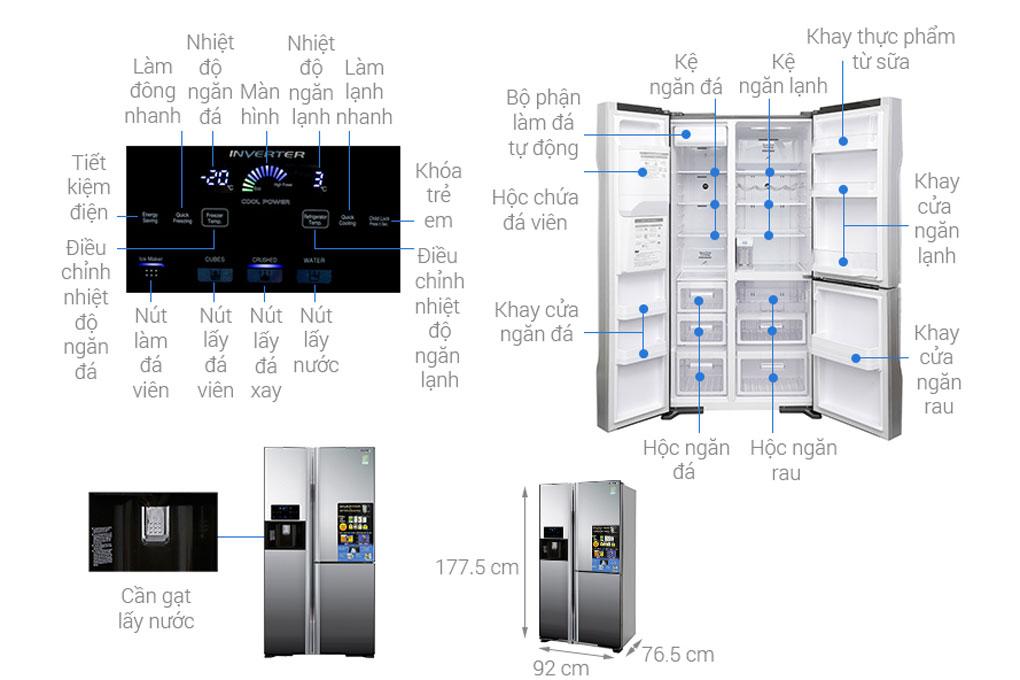 Cấu tạo của tủ lạnh Hitachi