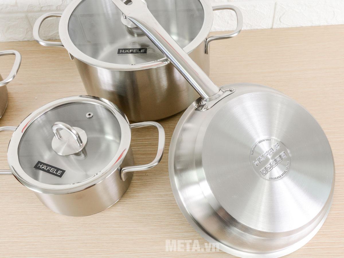 Bộ 4 nồi chảo inox bếp từ Hafele
