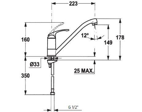 Vòi chậu rửa Teka MTP 913