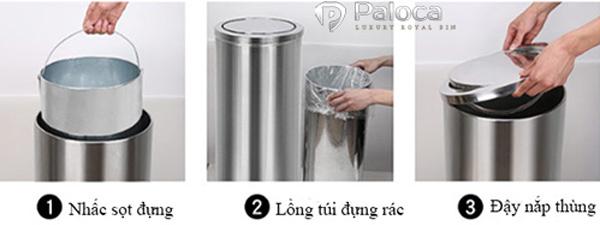 Cách sử dụng thùng rác