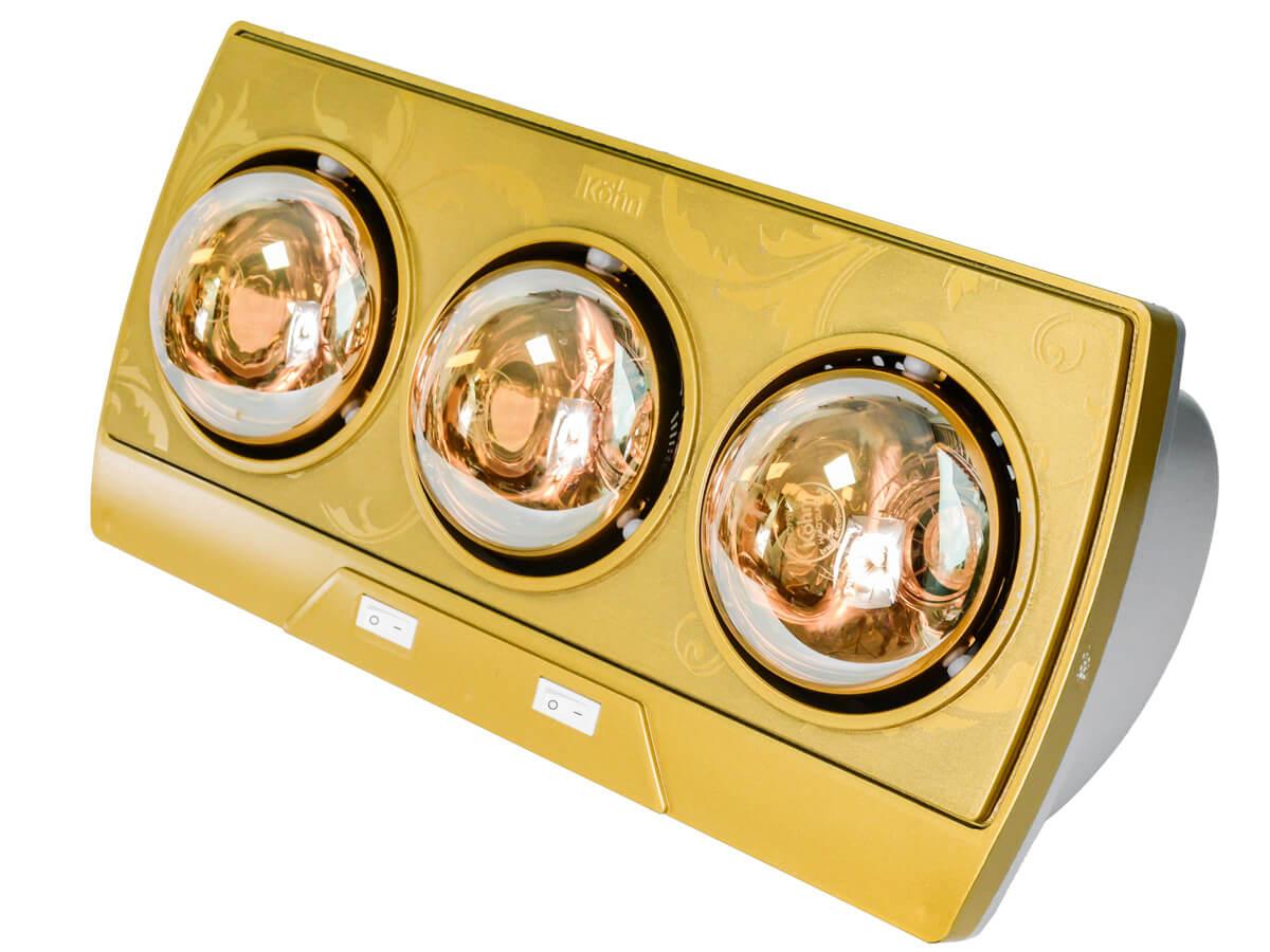 Thiết kế 3 bóng đèn hồng ngoại có công suất tối đa là 825W