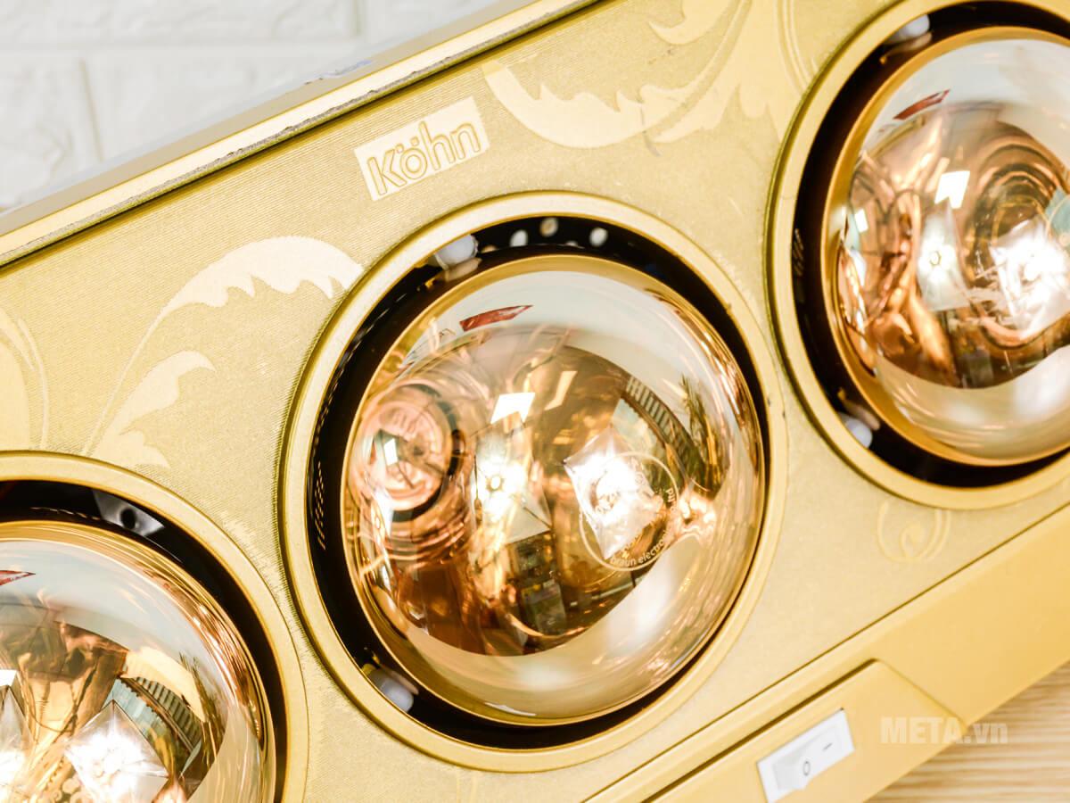 Đèn có thể đốt nóng nhanh đến 30 độ C chỉ trong vòng 5 - 7 giây