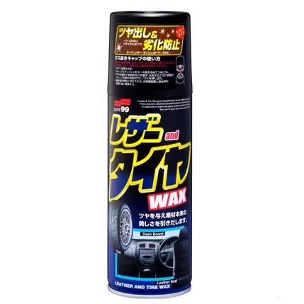 Hình ảnh dung dịch làm bóng và bảo dưỡng nội thất ô tô Soft99 Leather & Tire Wax
