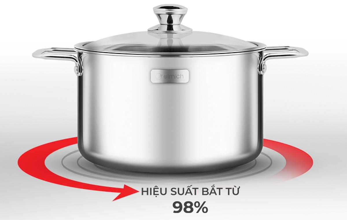Lớp inox 430 tăng hiệu suất nấu